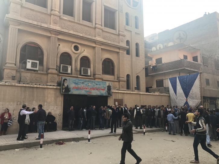 Gunmen attack church near Cairo, killing nine: ministry