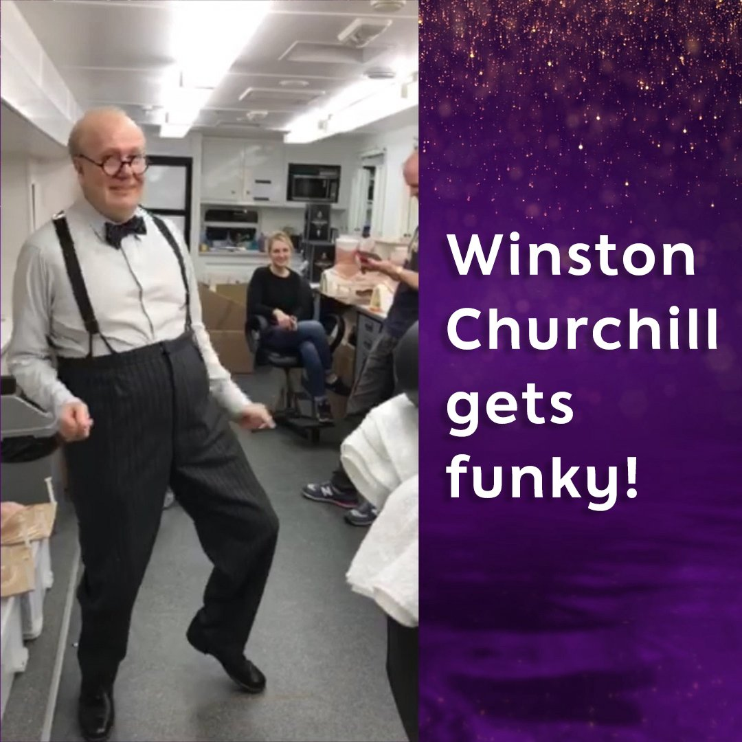 Gary Oldman as Winston Churchill dancing to James Brown. Enjoy. ��   #TheGNShow https://t.co/PvIeNo4pac