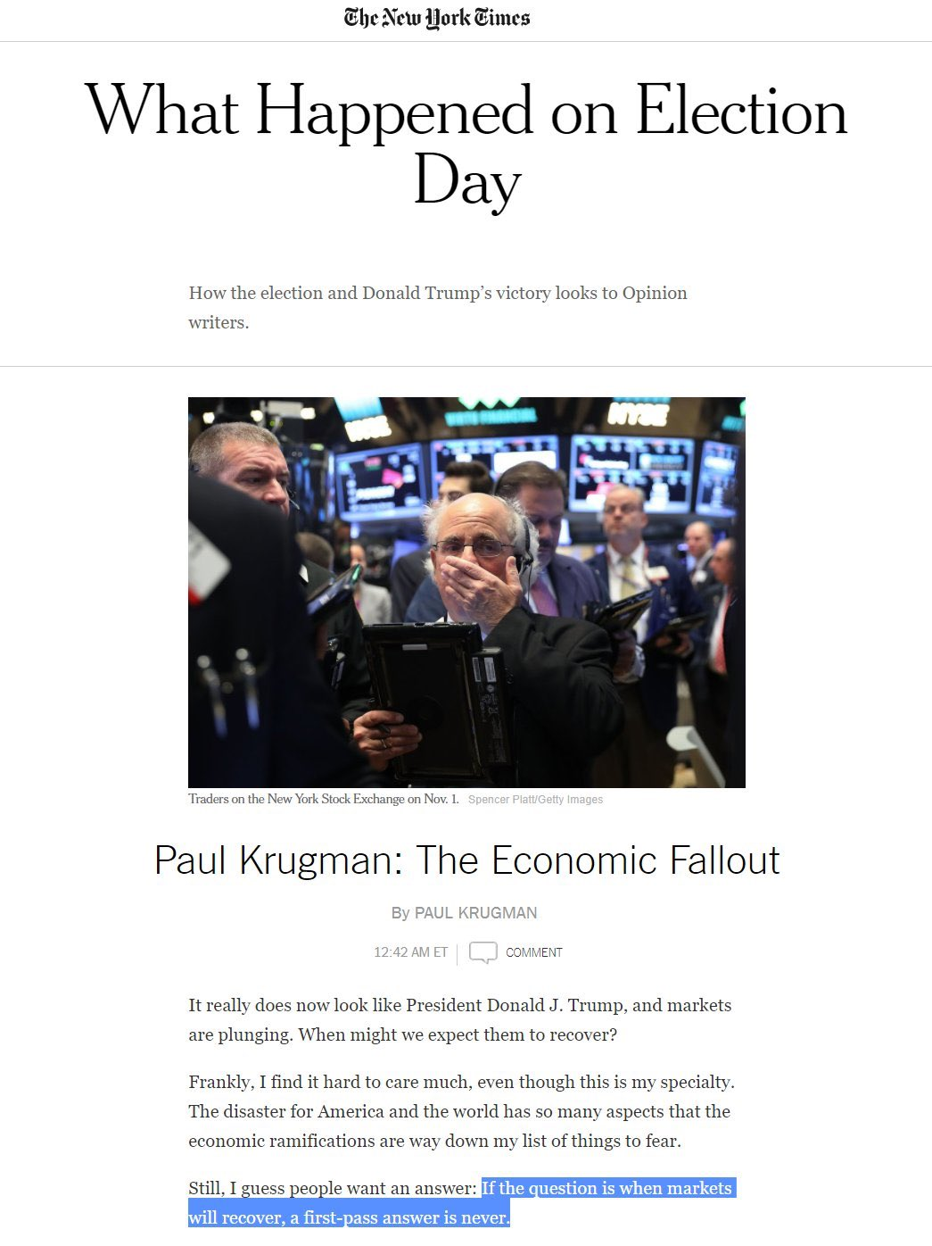 Greatest story of the year: booming @realDonaldTrump economy.  Worst prediction for the year: https://t.co/b6PGzp48zM