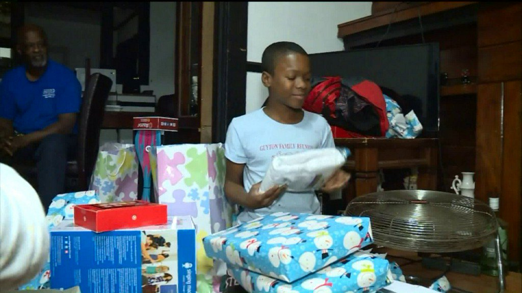 Family gets second Christmas after home break-in on ChristmasEve