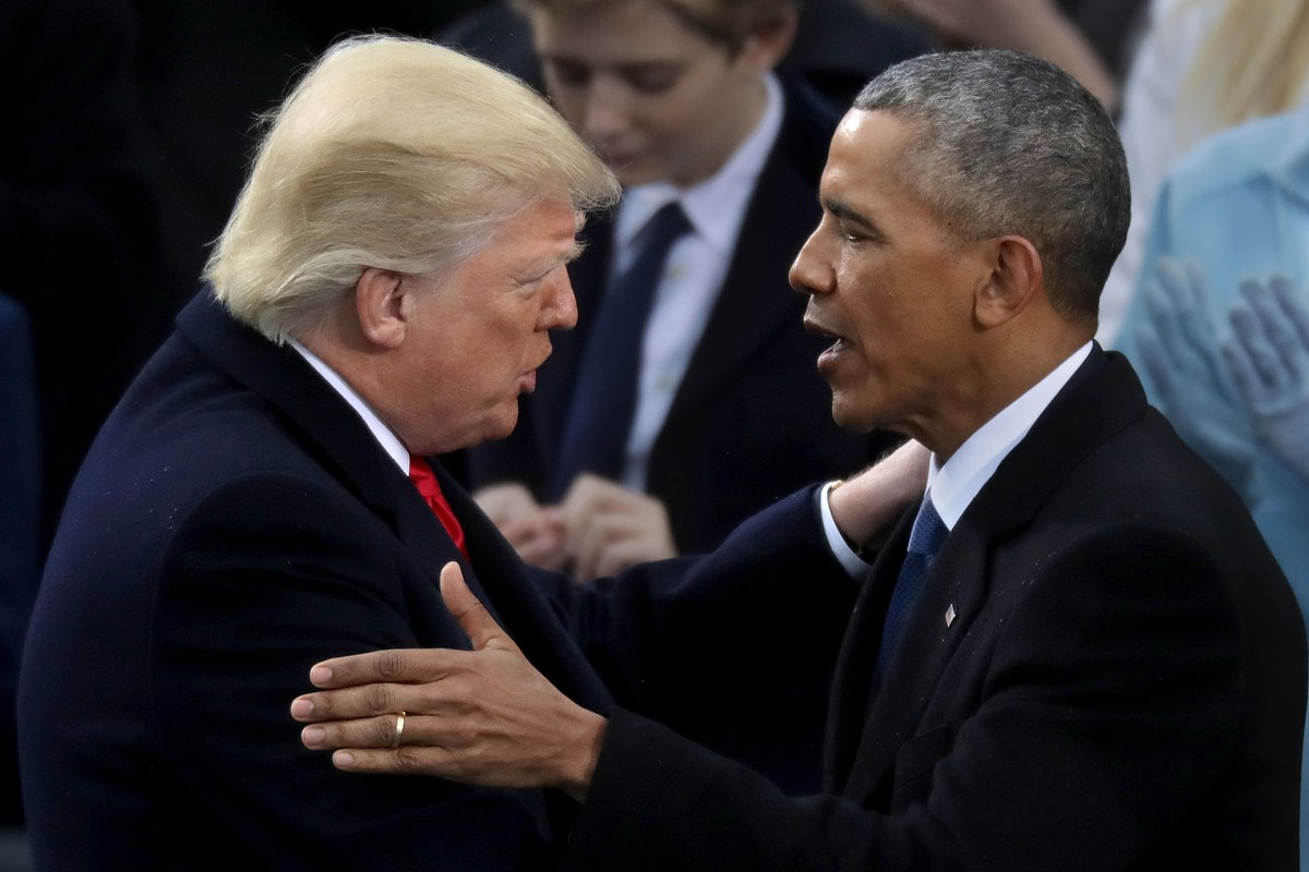 Obama tweeted about hope in the New Year, while Trump bashed his enemies