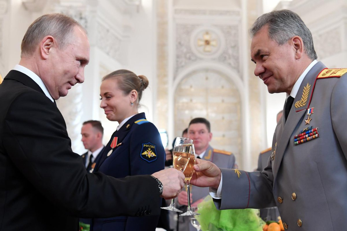 "Putin and Russian generals celebrate ""victory"" over U.S. and West in Syria"