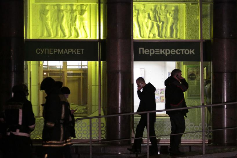 Russia says detains organizer of St. Petersburg supermarket blast: agencies