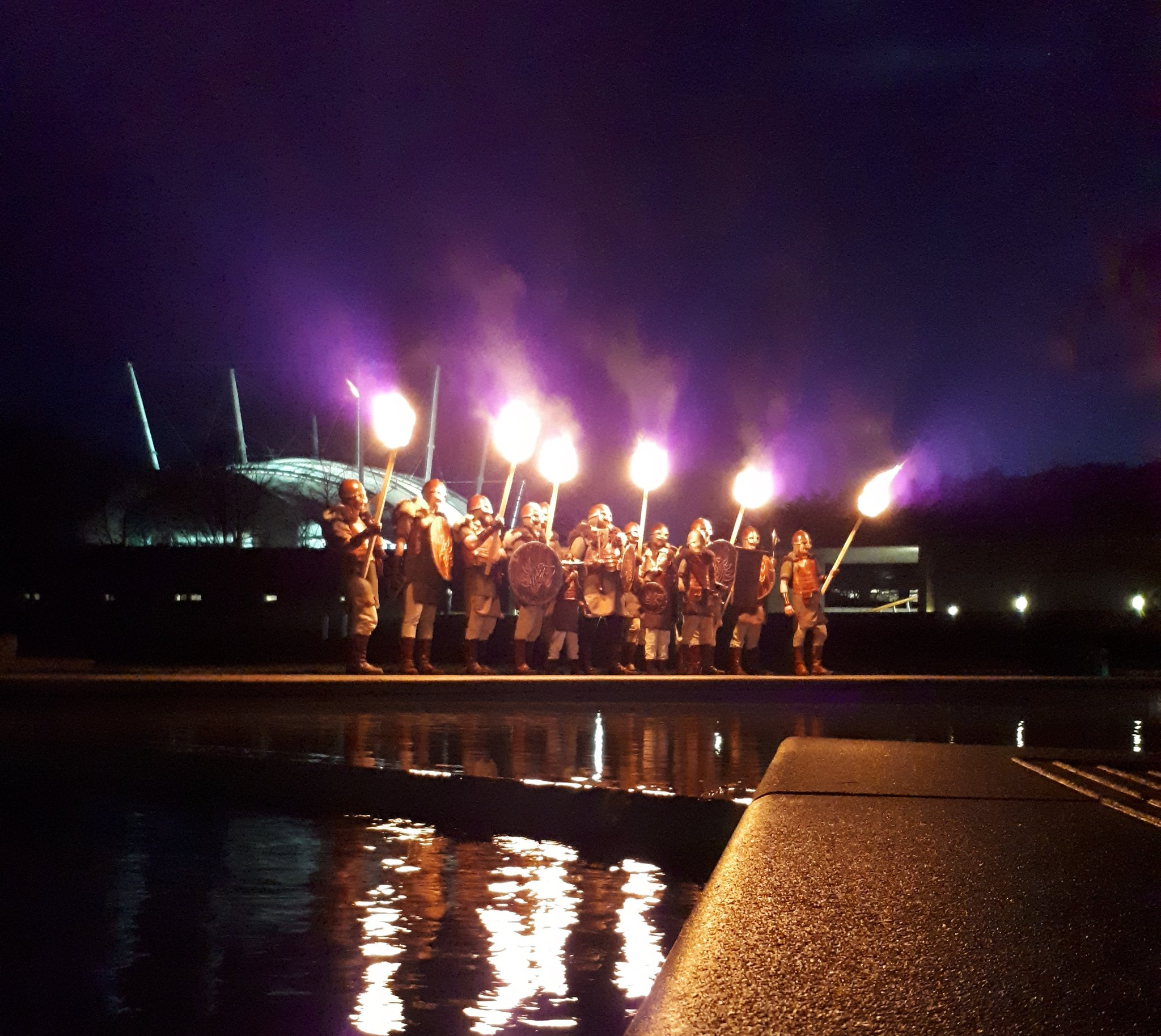 We're getting ready for @edhogmanay's Torchlight Procession! #edhogmanay #YOYP2018 ���� https://t.co/HdN1od73yk