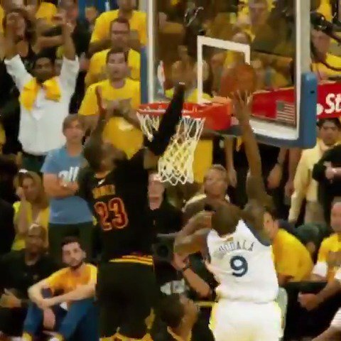 LeBron is the �� of the chase down block (via @NBA) https://t.co/gskcX9GBqR