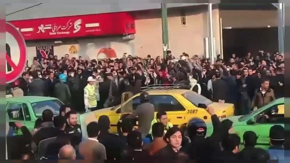 Protests against Iran's government continue for a third day in a row