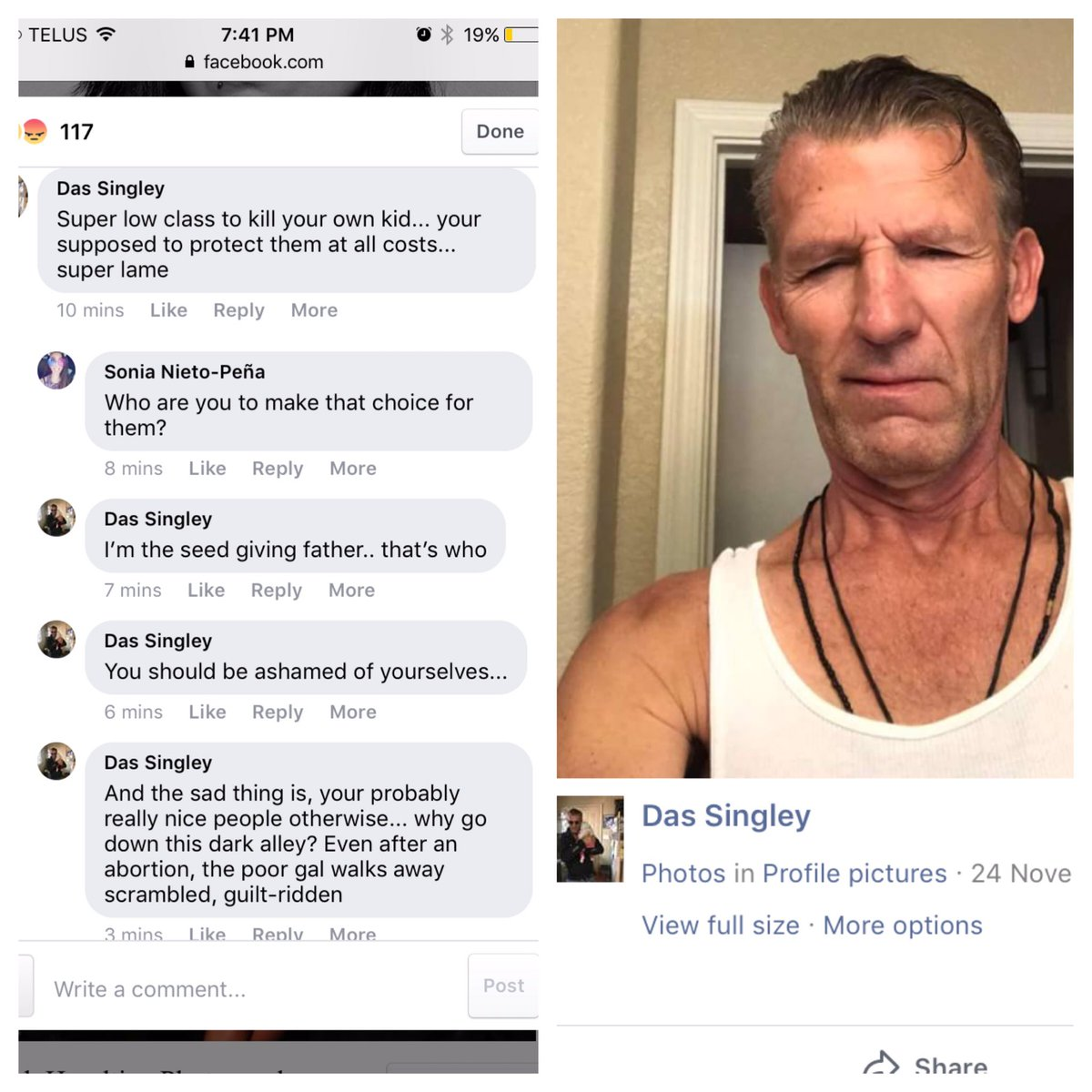 """Facebook is a goldmine! Meet Das Singley. He is a """"seed giving father."""" 9nsd0pLJmL"""