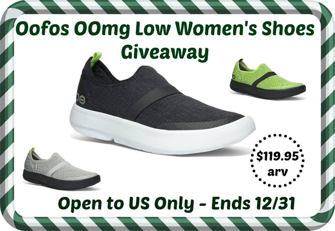 Oofos OOmg Low Women's Shoes Giveaway Ends 12/31