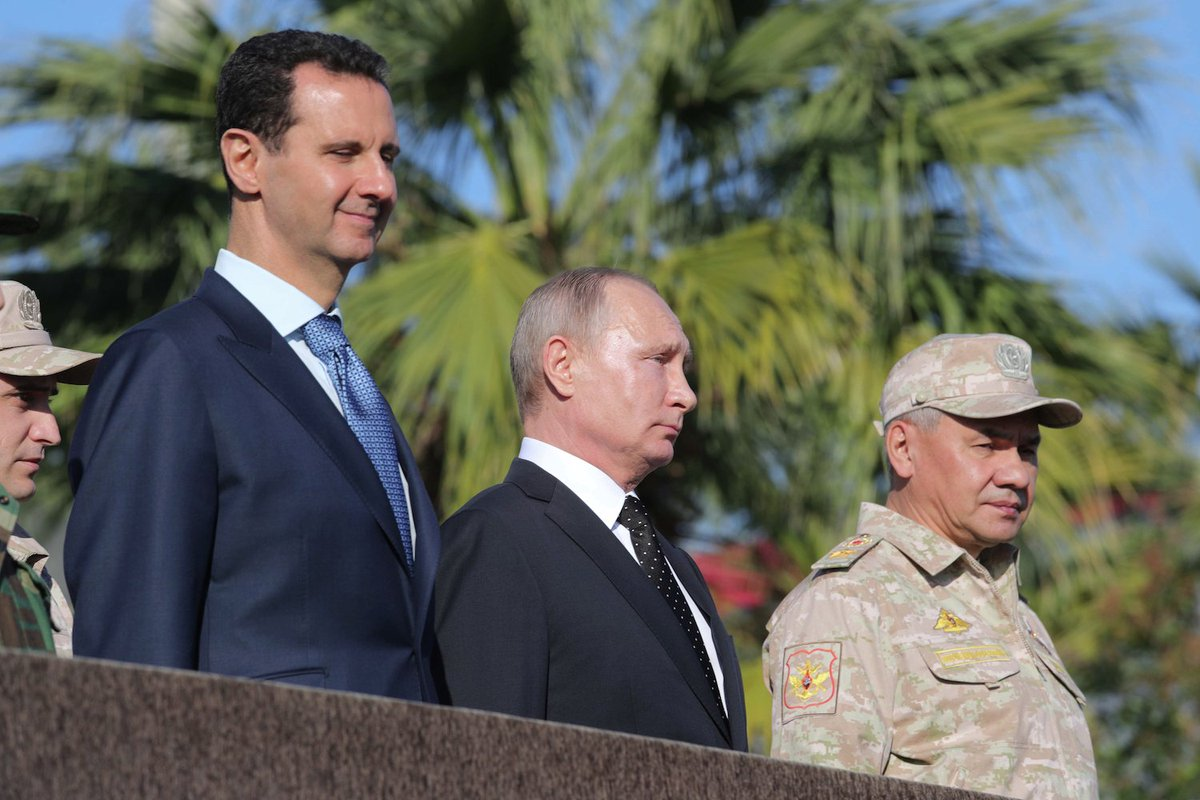 Putin has assured Assad that Russia will defend Syria's sovereignty
