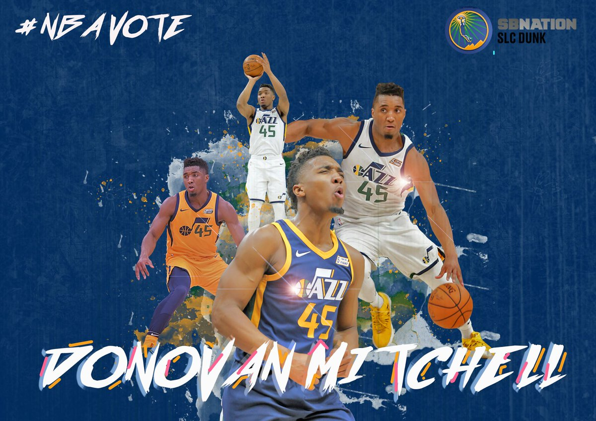RT @slcdunk: RT to get Donovan Mitchell in the All-Star Game #NBAVote #TakeNote https://t.co/UQLqALNcix