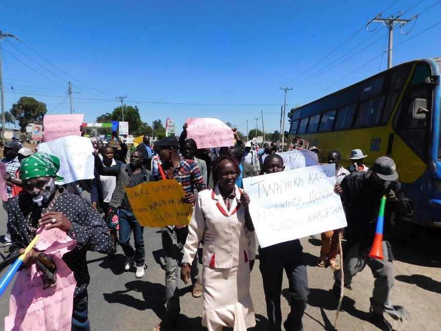 Nyandarua locals protest, want Public Service Board disbanded