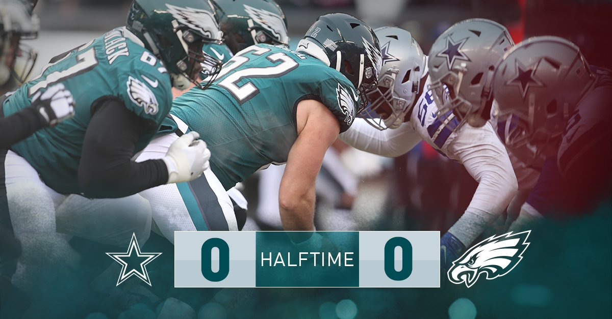 There's no score at the half.  #DALvsPHI https://t.co/0RjtXjo7hy