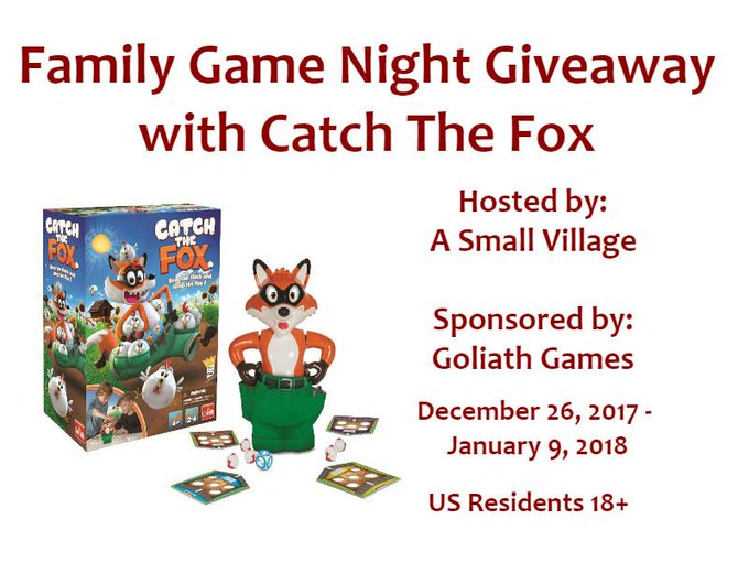 Family Game Night Giveaway with Catch The Fox