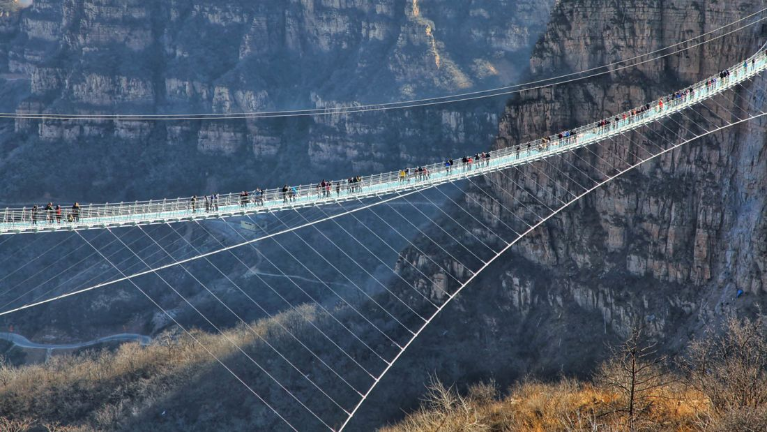 World's longest glass bridge opens in Hebei, China (via @CNNTravel)