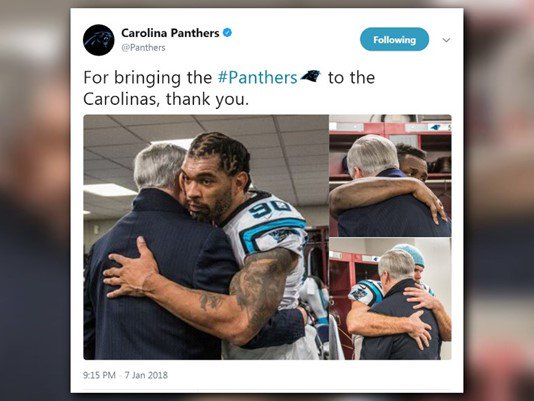 Jerry Richardson may have seen his last game as #Panthers owner https://t.co/RAvXLuTObl https://t.co/xT0tbg5awp