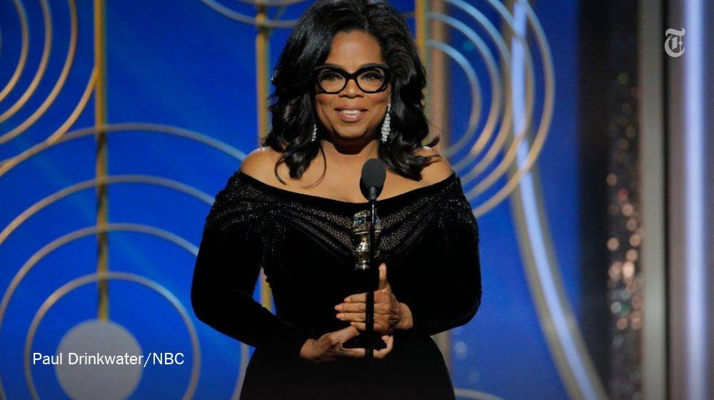 A full transcript of Oprah Winfrey's Golden Globes speech: https://t.co/Tvmp3xJDpO https://t.co/84WdtTcWnq