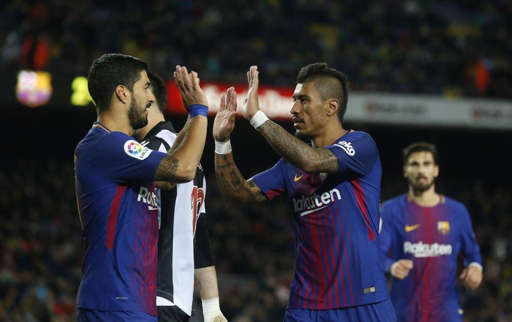 Barca wins 3-0 before Coutinho arrival; Messi, Suarez score