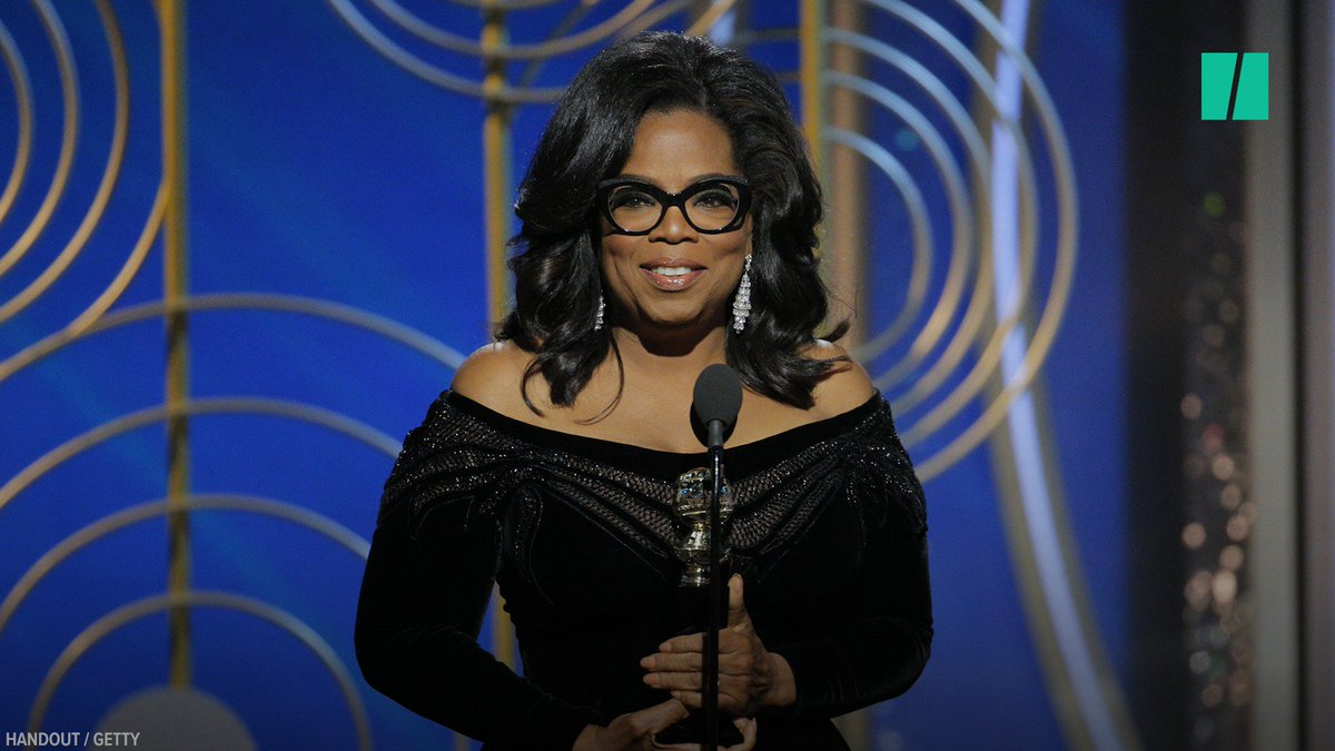 RT @HuffPost: Oprah Winfrey celebrates Time's Up & #metoo as only Oprah can ???? #GoldenGlobes https://t.co/9uBWqwnuqy