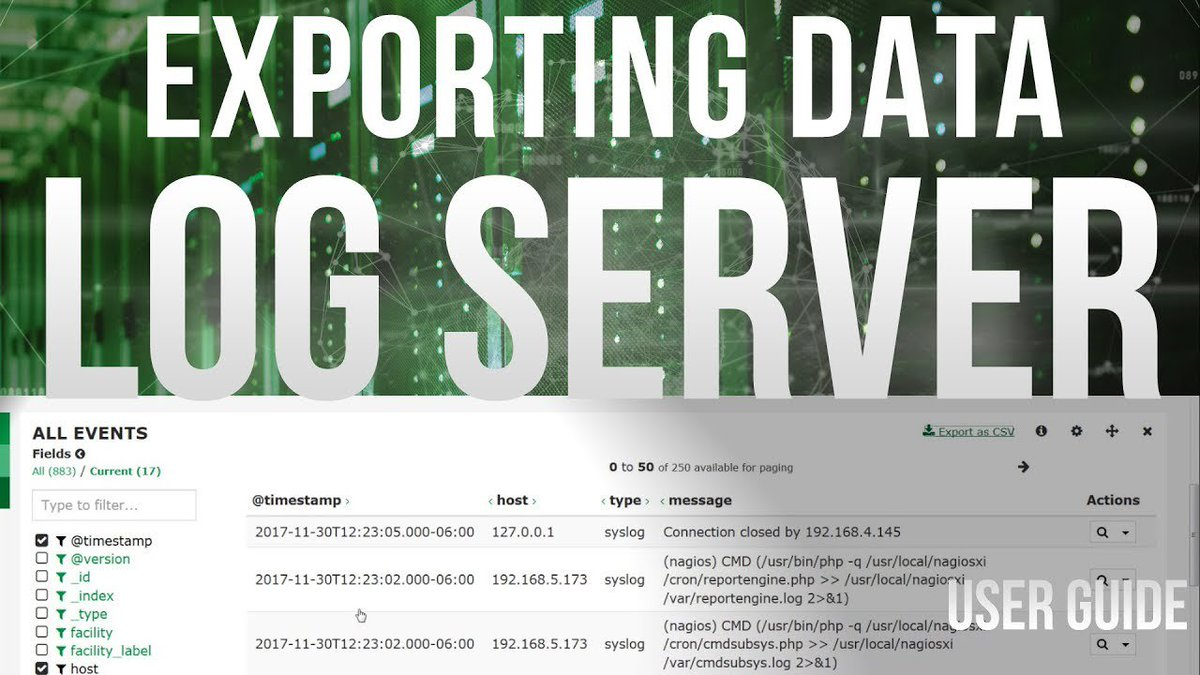 Exporting Data in Log Server 2 - Dauer: 4 Minuten, 19 Sekunden
