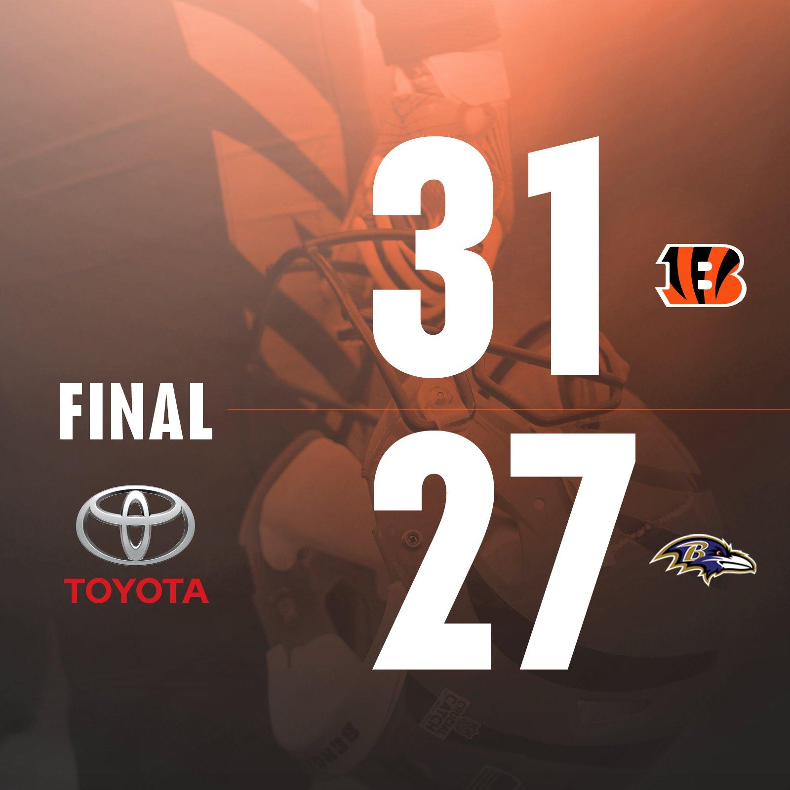 #Bengals finish the season with a WIN! #CINvsBAL #Bengals50   @Toyota Game Recap: https://t.co/v48ukzQnAj https://t.co/PgEQAesezS