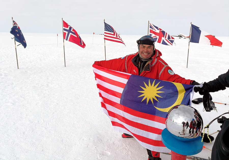 Qobin safely flown out of Union Glacier in Antarctica