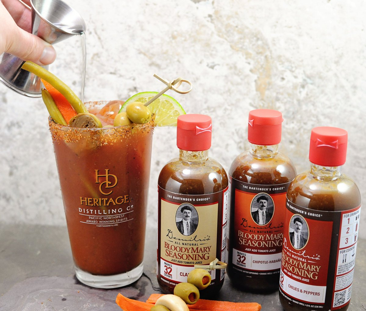 test Twitter Media - Which #HeritageDistilling spirit do you pour in to your Bloody Mary? #NationalBloodyMaryDay #SeasonedVodka #BaconVodka #SweetGhostPepperVodka @BloodyMaryMan https://t.co/AWQGr25eSB