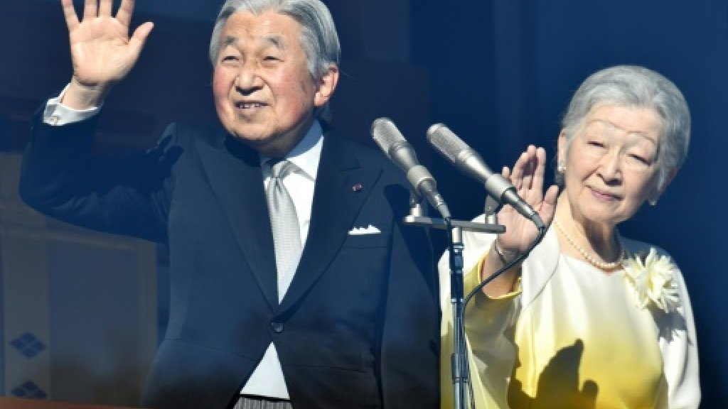 Japan emperor greets New Year well-wishers as prepares to abdicate