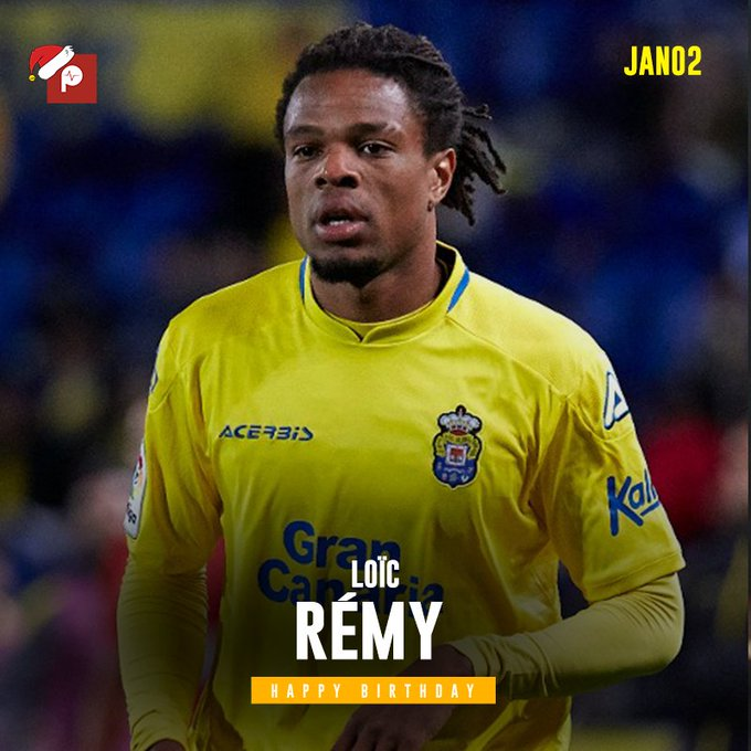 "PulseGhana ""Happy Birthday to Las Palmas forward and former Chelsea player Loic Remy."