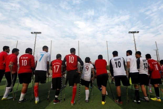 One-legged Egyptian soccer players aim for a league of their own