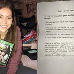 Man signs contract with girlfriend to play video game he received for Christmas