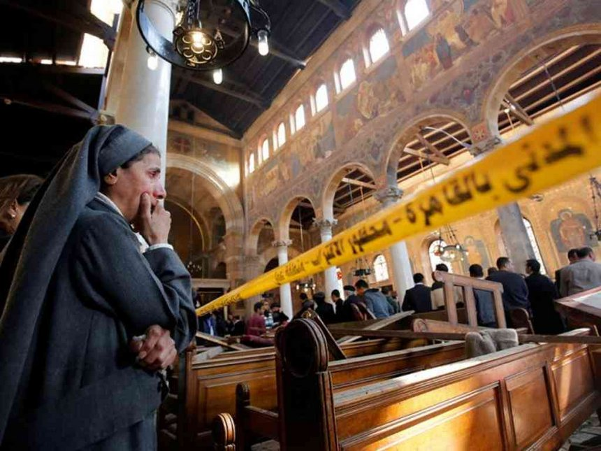 Egypt files murder charges against man held for church attack