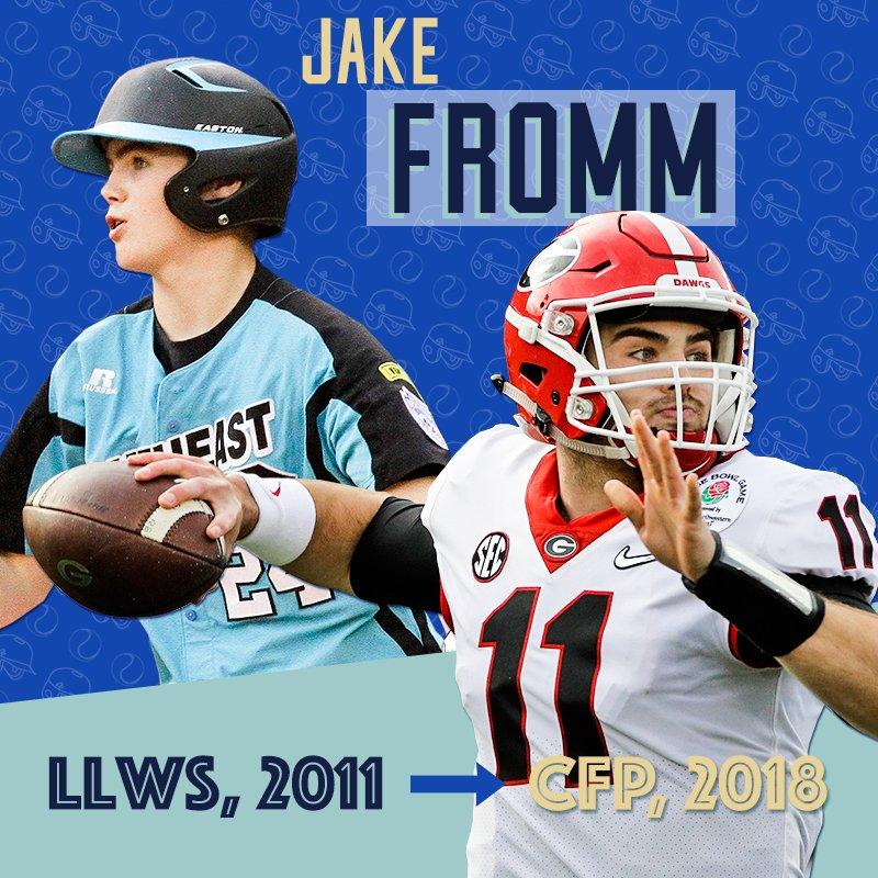 .@FrommJake played in the #LLWS.  Now he's in the College Football Playoff final! https://t.co/R4uoAqOyoJ