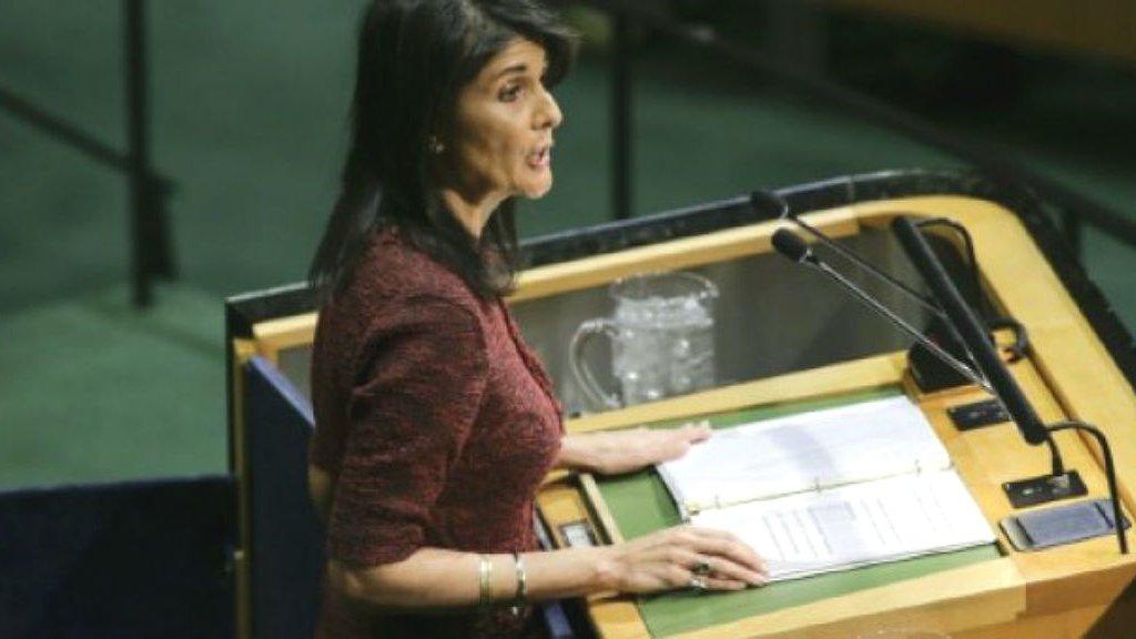 US envoy Nikki Haley calls for urgent UN meeting on Iran protests