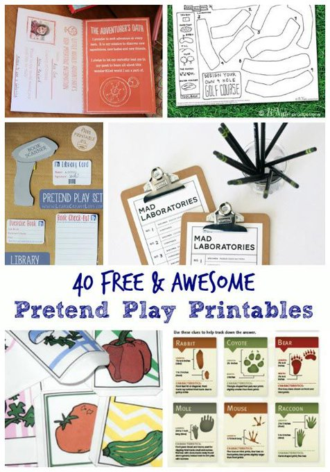 The best way to keep your kids busy this winter! >> freebie printables pretendplay