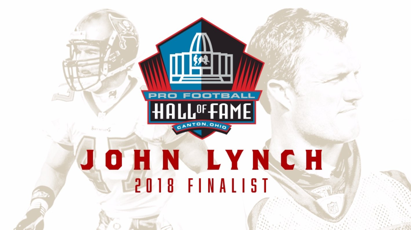 Breaking news: @JohnyLynch49ers has been named a @ProFootballHOF Finalist!   Congrats John! #PFHOF18 https://t.co/kwK04EfslP