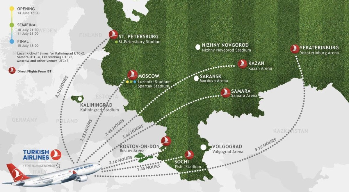 Turkish Airlines flight guideline for Russia 2018 World Cup @TurkishAirlines https://t.co/Lx8XKKfIwS