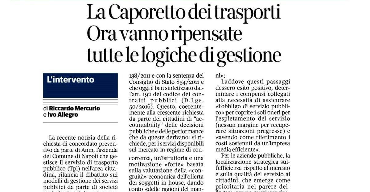 test Twitter Media - Il Corriere della Sera edizione di Napoli ospita un articolo del partner di Iniziativa Ivo Allegro e di Riccardo Mercurio sul tema delle partecipate pubbliche, con un focus specifico su quelle dei trasporti..-> https://t.co/fXjpSorfzt https://t.co/PSwDZWlRct