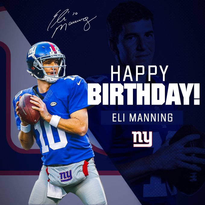 Eli Manning S Birthday Celebration Happybday To