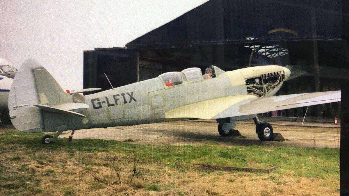test Twitter Media - Grace Spitfire's second engine run early 1985 after Nick Graces meticulous restoration. Dick Melton in front, Carolyn Grace in rear cockpit. Genuine history. https://t.co/Dw9iIuhJla
