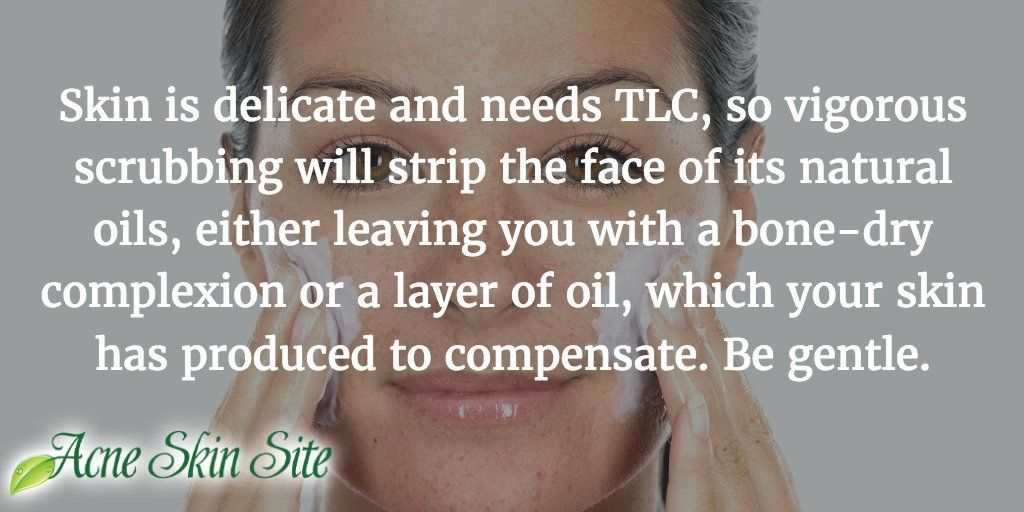 Don't over-exfoliate or over-wash your face!!! Too much cleansing and...