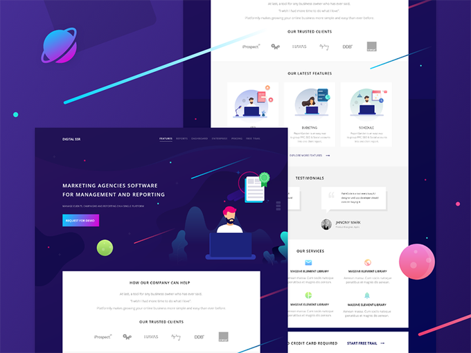 Landing Page by Bharath  freebie