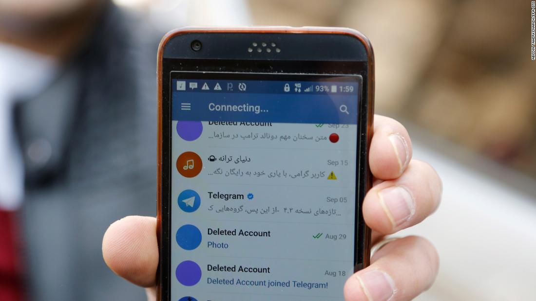 Iran threatens to shut down Telegram social media app in an effort to quell protests