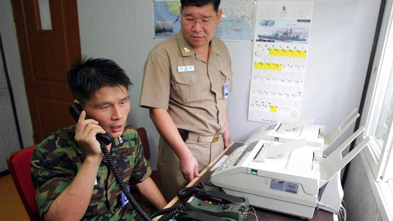 North Korea opens border hotline with South Korea after two-year suspension