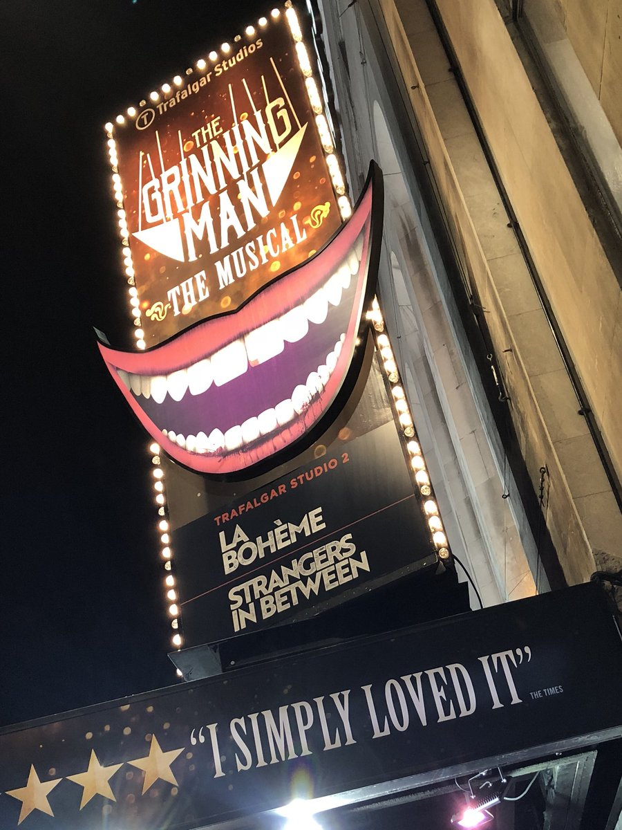 Just watched an amazing show in London! ????  @grinningmanLDN   ????????????????????????   ⭐️⭐️⭐️⭐️⭐️ https://t.co/Jvn3DrifWj