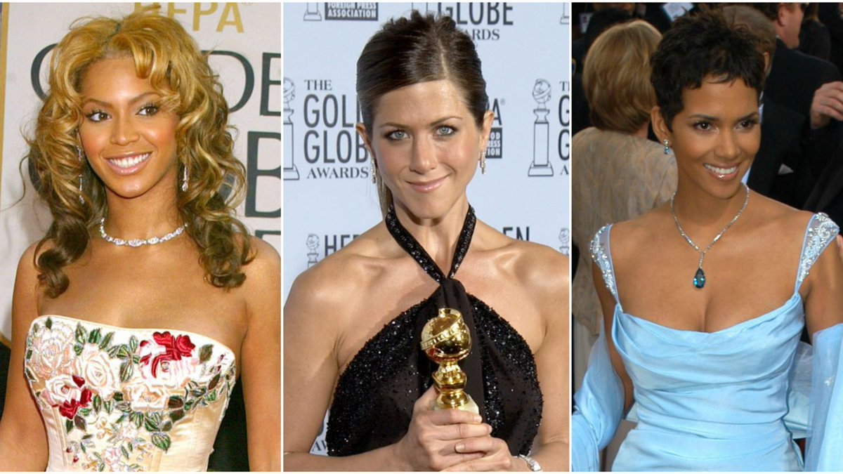 Relive The 2003 Golden Globe Looks Of Beyoncé, Jennifer Aniston, And More