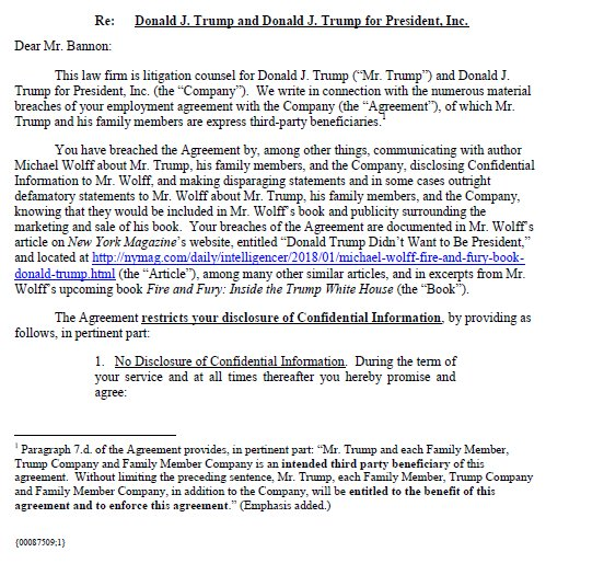 New Lawyer For Donald Trump Sent A Cease And Desist Letter To Steve