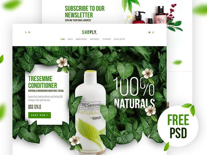Shoply Landing Page by annomaan freebie