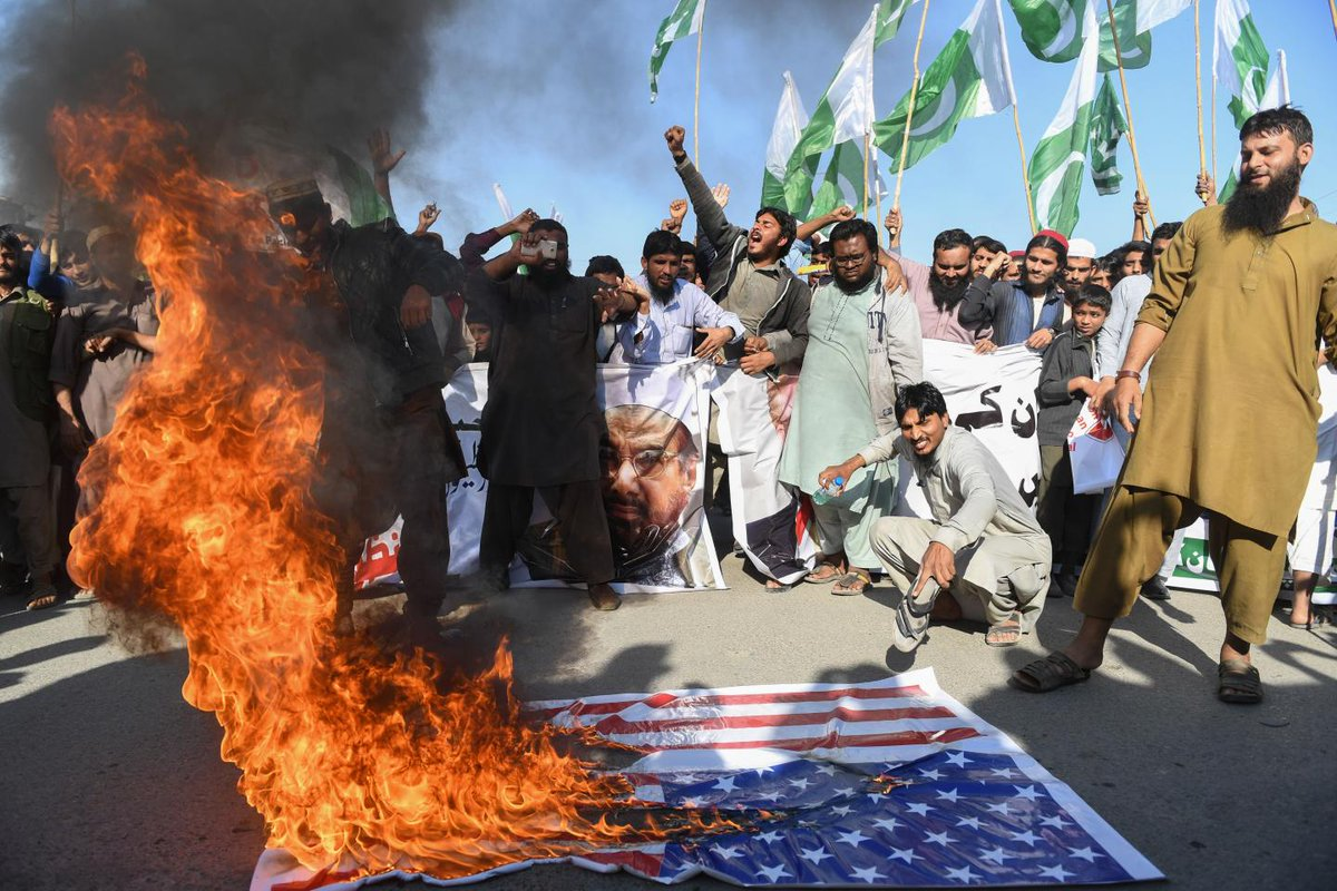 """The U.S. has caused a """"bloodbath"""" says Pakistan, in an attack on Trump's tweets"""