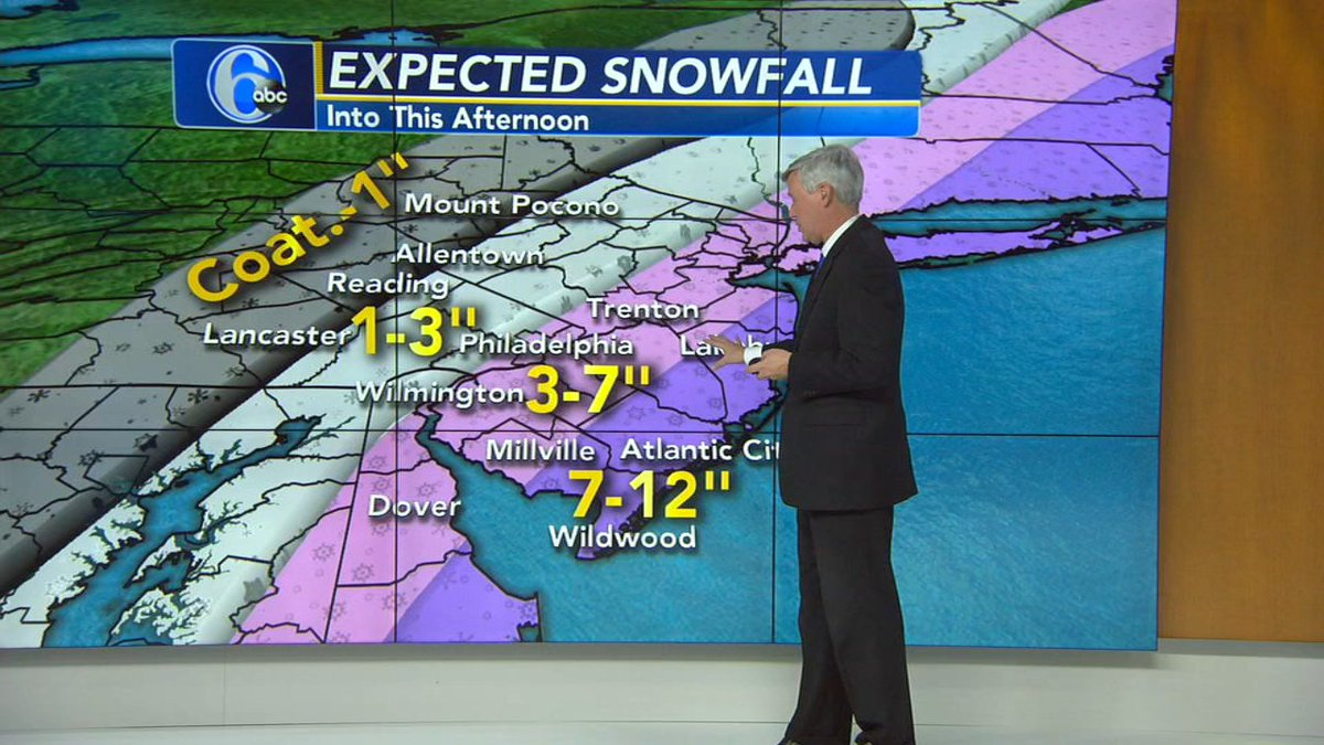AccuWeather: Storm officially a blizzard at New Jersey shore