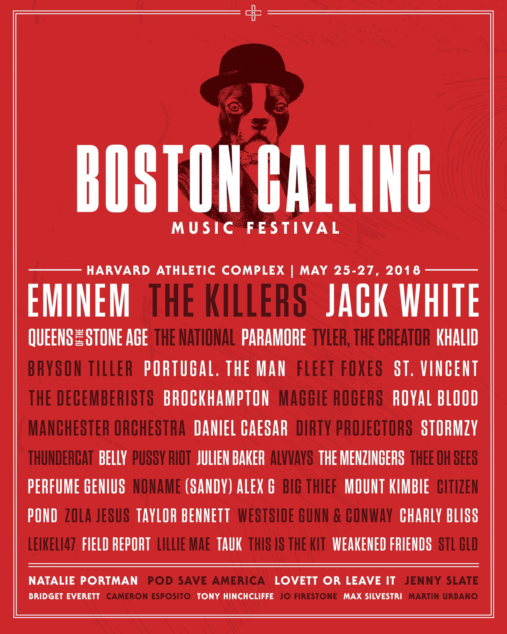 gonna make a lot of new friends in 2018. here we go. @Boston_Calling, see you there. https://t.co/PiUPsY5Udl https://t.co/Y6Kwr2QNet